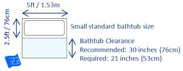 average size bathroom. Exellent Size Bathtub Dimensions And Clearances  To Average Size Bathroom V