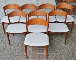 set eight curved back danish modern red teak dining chairs pertaining to attractive household round back dining chair remodel