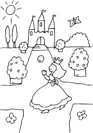 Coloriage Princesse Chateau Imprimer Sur Coloriages Info