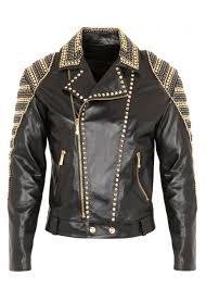 dagino studded leather men jacket