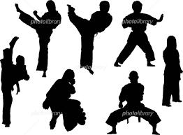 イラスト シルエット スポーツ 空手 女子 イラスト素材 417737