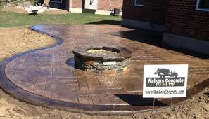 Concrete patio with square fire pit Stamped Concrete Fire Pit Patio Stamped Concrete Patio With Square Fire Pit Photo Fire Pit Slab Patio Videosdezumbainfo Fire Pit Patio Videosdezumbainfo