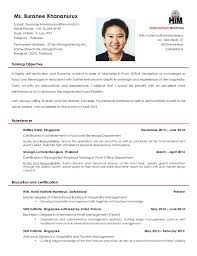 Resume Format Hotel Management Resume Template Ideas