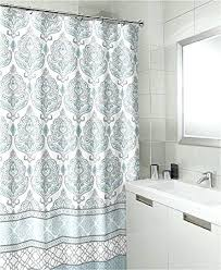 black white and gray shower curtain teal grey white canvas fabric shower curtain fl damask with