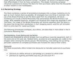 Retail Business Plan Outline Retail Store Business Plan Template Altpaper Co