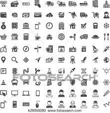 普遍的 アイコン Set 100 アイコン クリップアート切り張りイラスト絵画集