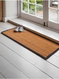 wide border doormat double