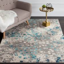 incredible bungalow rose crosier grey light blue area rug reviews wayfair throughout grey and blue area rug