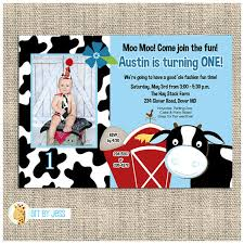 moo invitations party and birthday invitation cow birthday party invitations