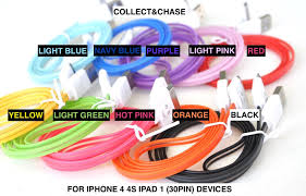 Blue Light Up Iphone Charger Amazon Com C C Blue Led Lights 3ft Charger Data Sync Cable