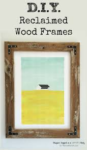 build your own large rustic wood art frames for a fraction of what you d