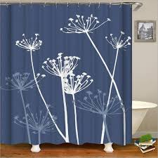 digital printing polyester fabric shower curtains waterproof mouldproof home bathroom curtains with 12 hooks personal tailor