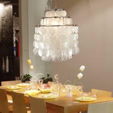 amazing capiz chandelier for your home lighting design natural white capiz chandelier chrome finish for