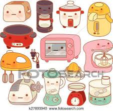 kitchen appliances clipart.  Appliances Clipart  Set Of Adorable Kitchen Appliances  Cute Kettle Lovely Oven  Sweet Blender Intended Kitchen Appliances P