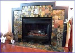 tile fireplace surround ideas around gas