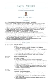 Principal Architect Resume samples