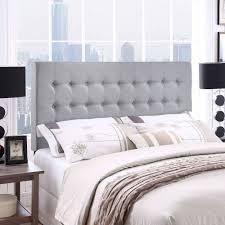 modway tinble queen tufted upholstered headboard in gray  walmartcom