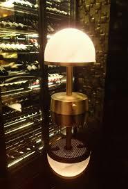 cordless lighting fixtures. Cordless Mini Rechargeable Lamp Art Deco Brass Alabaster Shade Lighting Fixtures N