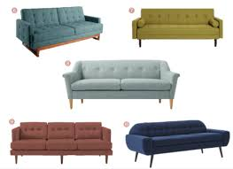 couches 2014. Colorful Mid-Century Couches Under $1000 // Annabode.com 2014