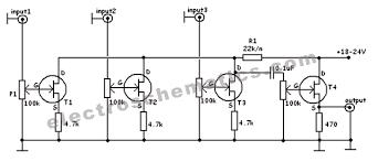 mixer circuit diagram info fet audio mixer circuit wiring circuit