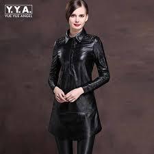2019 New Office Ladies Lapel Collar Single Breasted <b>Genuine</b> ...