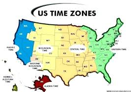 Time Zone Map North World X America Indiana Kingdomcolor Info