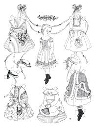 Small Picture Coloring Pages Kids Paper Dolls Coloring Pages Doll Coloring