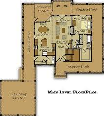 banner elk floor plan with wraparound porch