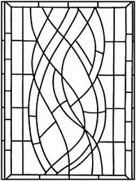 Small Picture Stained Glass Coloring pages for adults JustColor