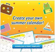 free printable kid s summer calendar