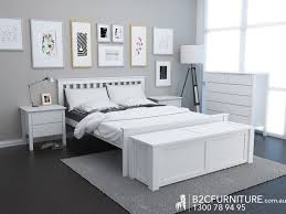 Modern Bedroom Furniture Melbourne Dandenong Queen Bed Frame White Modern B2c Furniture