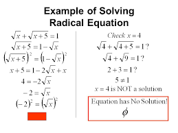 29 example of solving radical equation