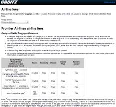 Airline Fee Chart The New Frontier Of Airline Fees Overhead Bin Space And
