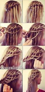 Nice Waterfall Braid With A Twist účesy Nápady Na účesy