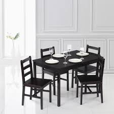 Modern 5pcs Pine Wood Dining Table Set Kitchen Dinette Table With