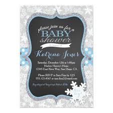 Snowflake Baby Shower Invitations Winter Wonderland Snowflake Baby Shower Invitation Zazzle Com