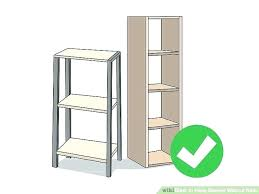 how to hang shelves wall shelves without drilling image titled hang shelves without nails step wall