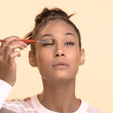 mix something glossy with black eye shadow on the back of your hand makeup artists frequently use 8 hour cream or lip gloss but if you