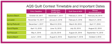 Contests – AQS QuiltWeek & Frequently Asked Questions ... Adamdwight.com