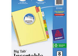 Avery 11901 Template 54 Template For Avery Big Tabs Inserts Dividers 11111 Avery