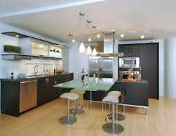 ceiling track lighting systems. Sleek-and-ergonomic-kitchen-with-a-blend-of- Ceiling Track Lighting Systems
