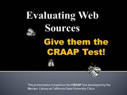 Craap Test Craap Test For Websites Authorstream