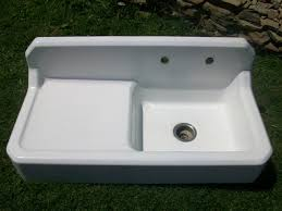 kersey pennsylvania vintage single basin left side drainboard