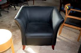 black leather waiting room chairs