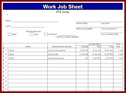 Job Sheet Templates Delectable Job Sheet Template Conciertoco
