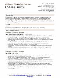 Education Objective For Resume Business Education Teacher Resume Samples Qwikresume