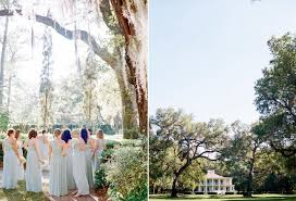 mint bridesmaid gown hydrangea bouquet eden gardens state park wedding