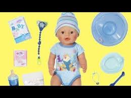 baby born interactive boy dolls bathtub highchair stroller baby doll eat bath sleep and