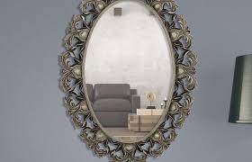 bathroom mirror ideas medium size majestic mirror oval beveled glass framed wall frameless oval beveled