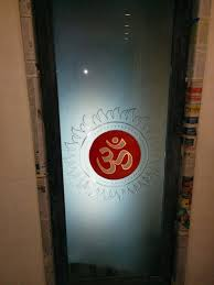 glass door for pooja room